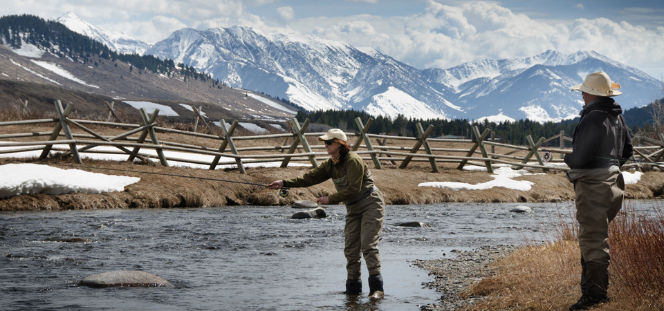 Madison River Spring Angler fishing for trout