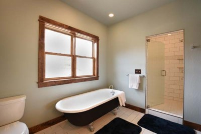 Rainbow West Vacation Rental in Ennis MT Master bath
