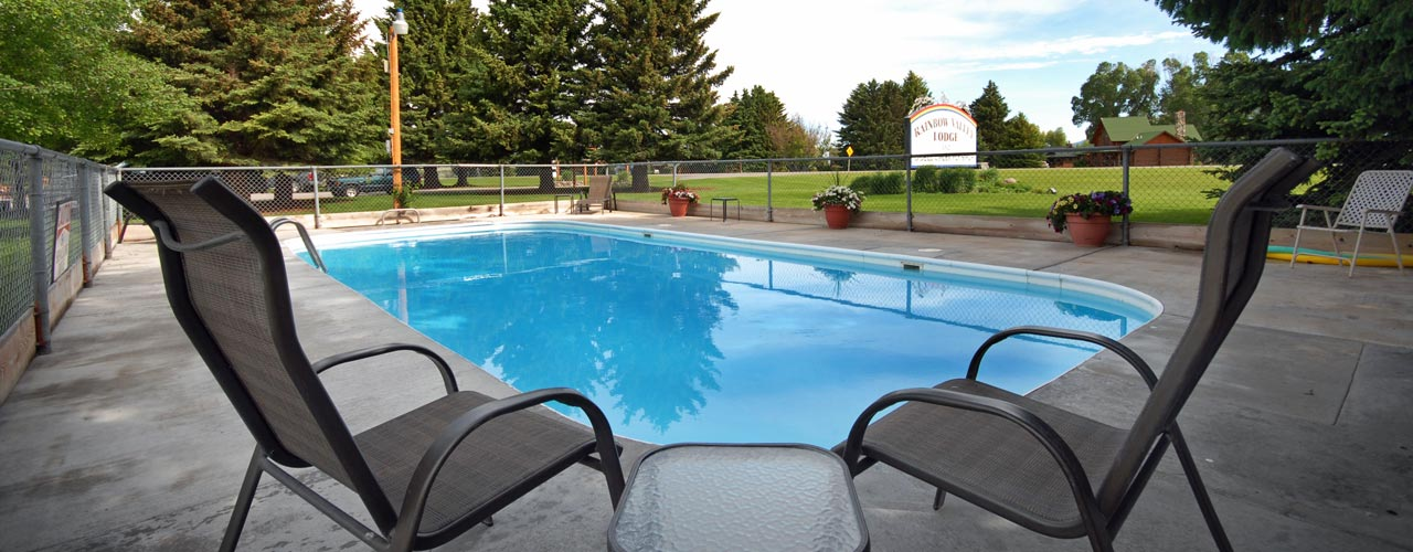 Pool at the Rainbow Valley Lodge in Ennis Montana