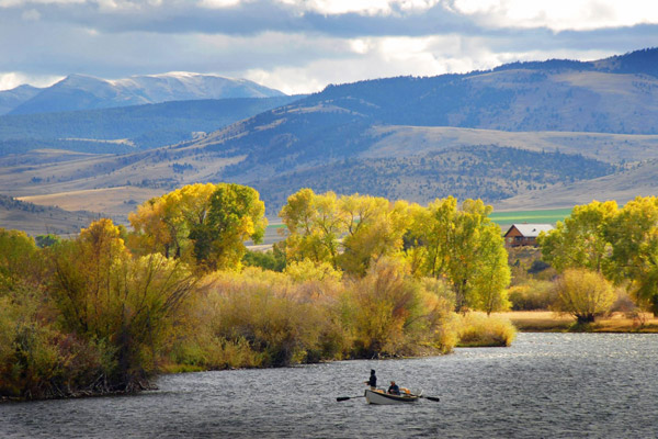 Autumn on the Madison River - Rainbow Valley Lodge, Montana