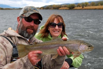 Rainbow Trout on Guided Fishing Trip in Montana